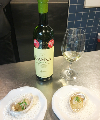 Boplaas Gamka Branca paired Hermanus perlemoen egg custard sake rice wine JAN Restaurant Jan 2018