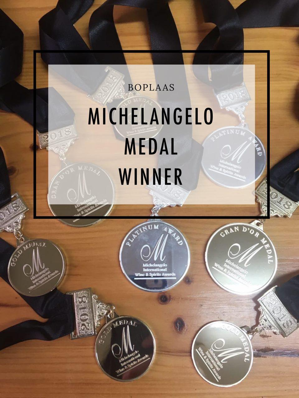 Boplaas named among most successful award-winners at Michelangelo 2018